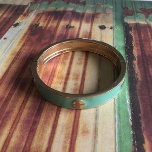 Turquoise Gold-tone Bangle Bracelet